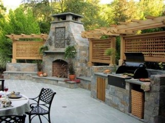 Wonderful Outdoor Fireplace Design Ideas 12