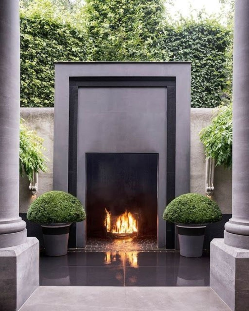 Wonderful Outdoor Fireplace Design Ideas 34