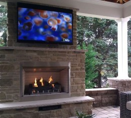 Wonderful Outdoor Fireplace Design Ideas 42