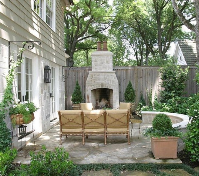 Wonderful Outdoor Fireplace Design Ideas 47