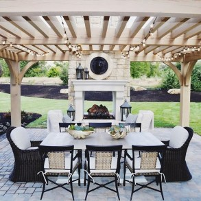 Wonderful Outdoor Fireplace Design Ideas 49