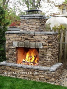 Wonderful Outdoor Fireplace Design Ideas 50