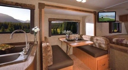Wonderful Rv Camper Van Interior Decorating Ideas 50