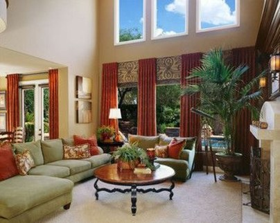 Charming Living Room Designs Ideas With Combinations Of Brown Color 26
