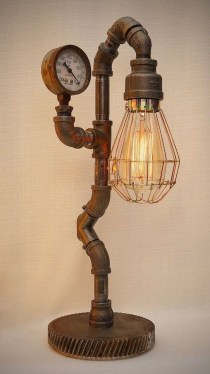 Cool Diy Industrial Pipe Lamps Ideas 20