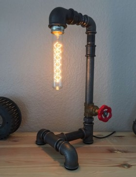 Cool Diy Industrial Pipe Lamps Ideas 31