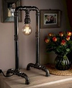 Cool Diy Industrial Pipe Lamps Ideas 38