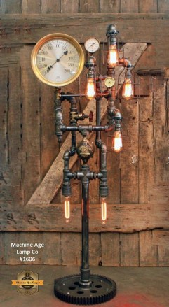Cool Diy Industrial Pipe Lamps Ideas 41