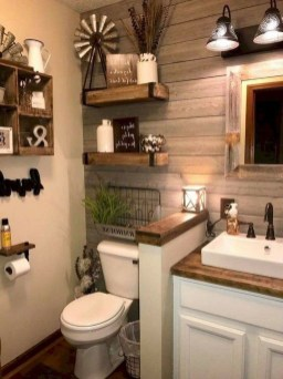 Elegant Farmhouse Bathroom Wall Color Ideas 37