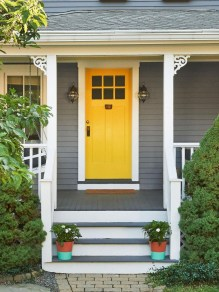 Flawless Exterior House Paint Ideas With Yellow Colors 17