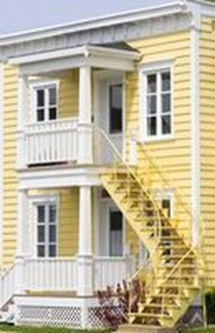 Flawless Exterior House Paint Ideas With Yellow Colors 28