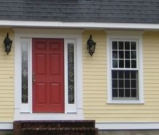 Flawless Exterior House Paint Ideas With Yellow Colors 32