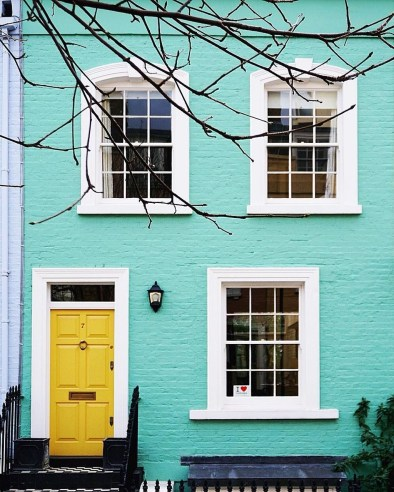 Flawless Exterior House Paint Ideas With Yellow Colors 46