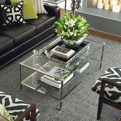 Marvelous Glass Coffee Tables Ideas For Living Room 32