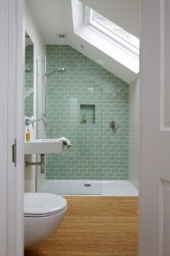 Modern Attic Bathroom Design Ideas 05