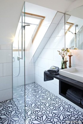 Modern Attic Bathroom Design Ideas 08