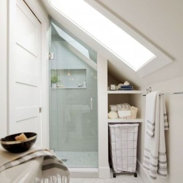 Modern Attic Bathroom Design Ideas 17