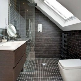 Modern Attic Bathroom Design Ideas 39