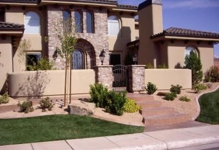 Stunning Front Yard Courtyard Landscaping Ideas 19