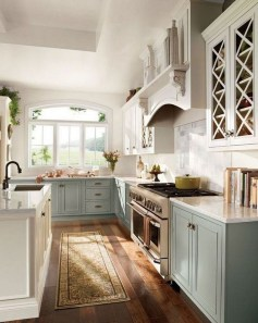Stylish French Country Kitchen Decor Ideas 48