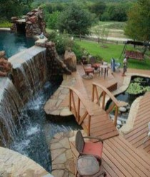 Amazing Natural Small Pools Design Ideas For Backyard 08