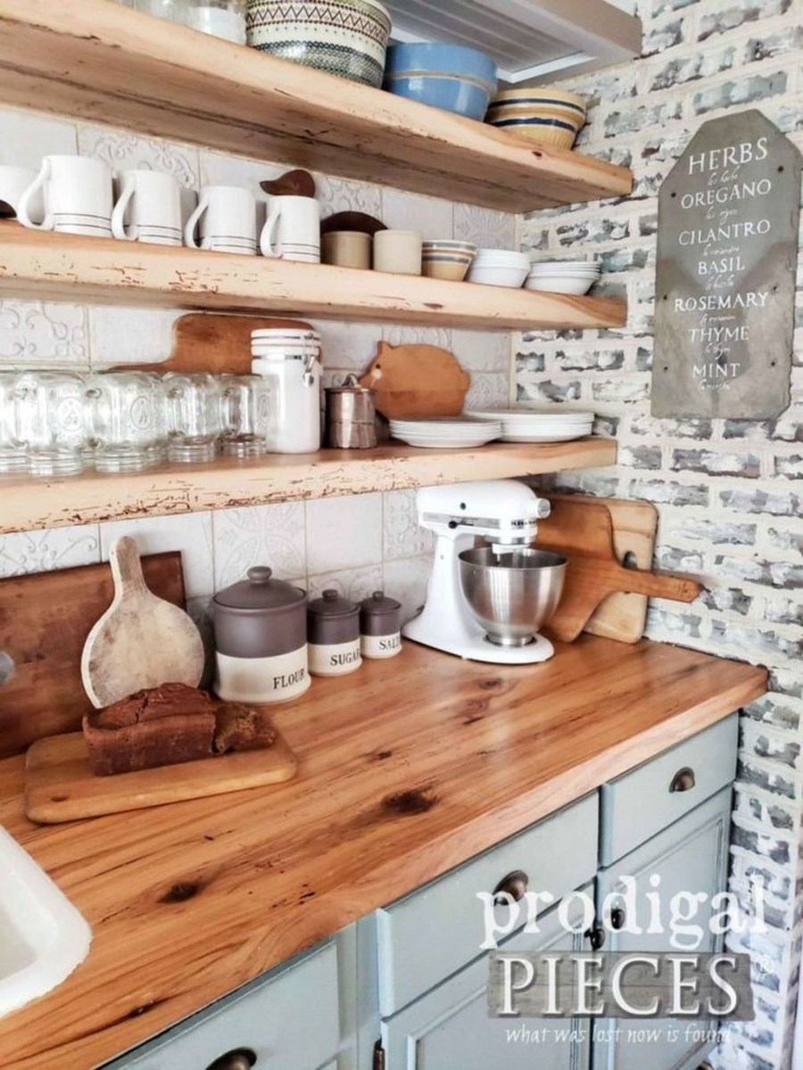 Attractive Kitchen Decorating Ideas With Farmhouse Style 19