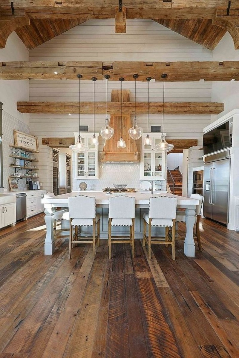 Attractive Kitchen Decorating Ideas With Farmhouse Style 37
