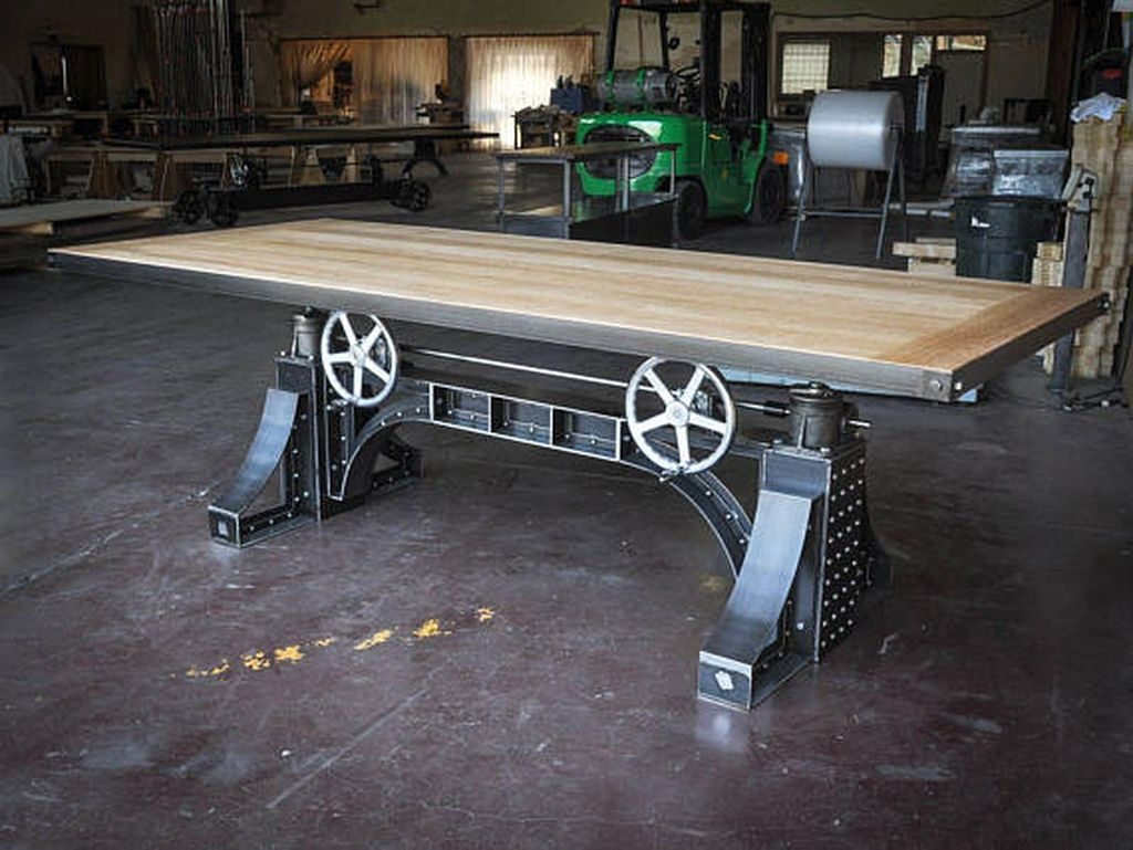 Cool Industrial Table Design Ideas 31