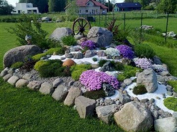 Fantastic Front Yard Rock Garden Ideas 18