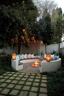 Creative Build Round Firepit Area Ideas For Summer Nights 18