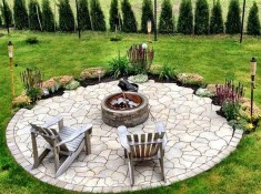 Creative Build Round Firepit Area Ideas For Summer Nights 31