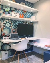 Lovely Small Home Office Ideas 44