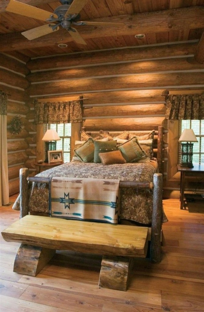 Comfy Wooden Cabin Bedroom Design Ideas For Summer Holiday 01