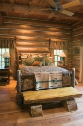 Comfy Wooden Cabin Bedroom Design Ideas For Summer Holiday 13