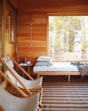 Comfy Wooden Cabin Bedroom Design Ideas For Summer Holiday 20