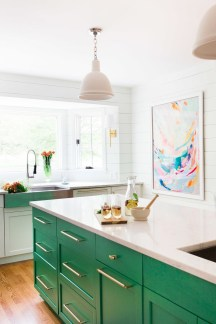 Cool Colorful Kitchen Decor Ideas For Summer 03