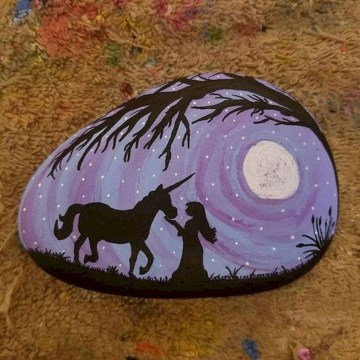Inspiring Diy Painted Rocks Ideas With Animals Horse For Summer 05