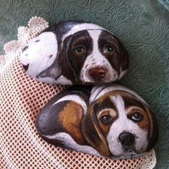 Magnificient Diy Painted Rocks Ideas With Animals Dogs For Summer 14