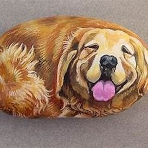Magnificient Diy Painted Rocks Ideas With Animals Dogs For Summer 19