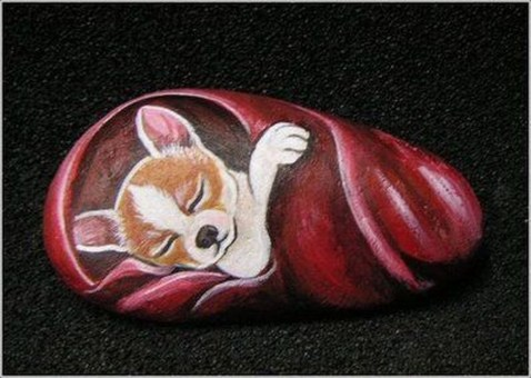 Magnificient Diy Painted Rocks Ideas With Animals Dogs For Summer 36