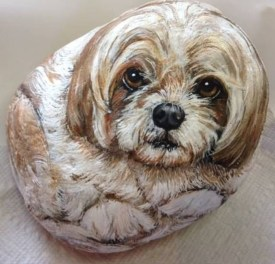 Magnificient Diy Painted Rocks Ideas With Animals Dogs For Summer 49
