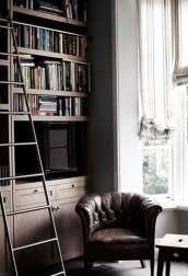 Magnificient Home Design Ideas With Library You Should Keep 35