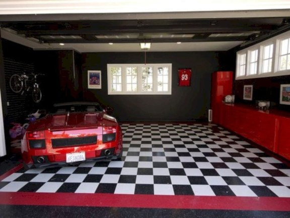 Pretty Garage Floor Design Ideas That You Can Try In Your Home 30