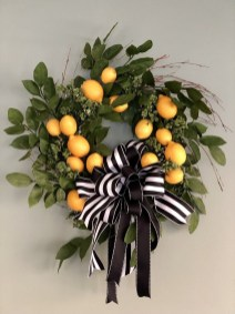 Pretty Summer Wreath Decor Ideas For Front Door 01