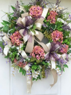 Pretty Summer Wreath Decor Ideas For Front Door 08