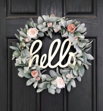 Pretty Summer Wreath Decor Ideas For Front Door 09