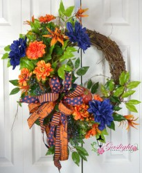 Pretty Summer Wreath Decor Ideas For Front Door 10