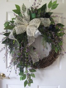 Pretty Summer Wreath Decor Ideas For Front Door 20