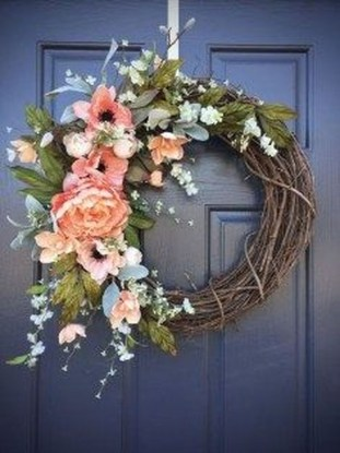 Pretty Summer Wreath Decor Ideas For Front Door 24