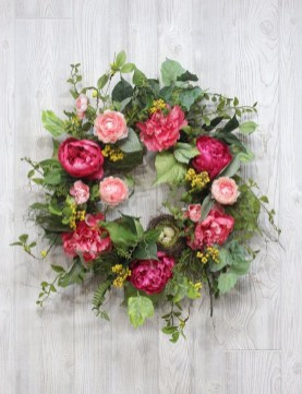 Pretty Summer Wreath Decor Ideas For Front Door 49